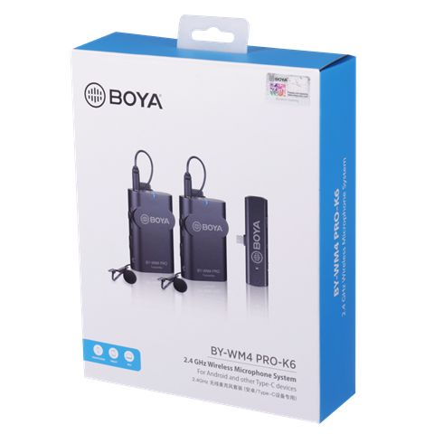 Boya 2.4 Ghz Dual Lavalier-Mikrofon Drahtlos BY-WM4 Pro-K6 für Android