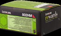 Lexmark Toner magenta 80C2HM0 802HM ~3000 Seiten Rückgabe-Druckkassette