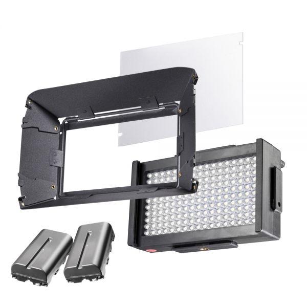 Walimex pro LED Foto Video Square 312 Bi Color Set