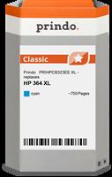 Prindo Tintenpatrone cyan PRIHPCB323EE 364XL ~750 Seiten Prindo CLASSIC: DIE Alternative, Top Qualit