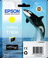 Epson Tintenpatrone gelb C13T76044010 T7604 ~2100 Seiten 25.9ml UltraChrome HD