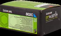 Lexmark Toner cyan 80C20C0 802C ~1000 Seiten Rückgabe-Druckkassette