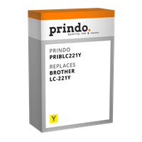 Prindo Tintenpatrone Gelb PRIBLC221Y LC-221 ~260 Seiten Prindo CLASSIC: DIE Alternative, Top Qualitä