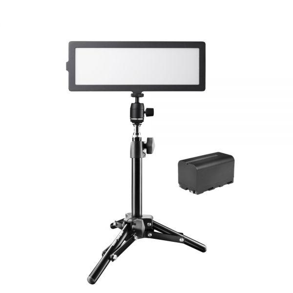 Walimex pro Soft LED 200 Flat Bi Color Akku + 40cm Stativ Set