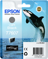 Epson Tintenpatrone schwarz (hell) C13T76074010 T7607 ~10000 Seiten 25.9ml UltraChrome HD