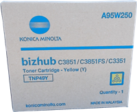 Konica Minolta Toner Gelb A95W250 TNP49Y ~12000 Seiten