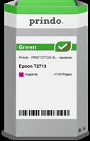 Prindo Tintenpatrone Magenta PRIET2713G Green ~1100 Seiten Prindo GREEN: Recycelt & aufwendig aufber